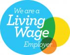 We are a Living Wage Employer (logo)