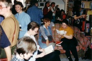 Re-launch of the Lesbian Archive and Information Centre after moving to GWL in 1995