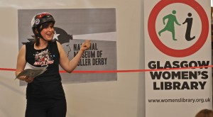 Ellie Harrison at the launch of the 'National Museum of Roller Derby'