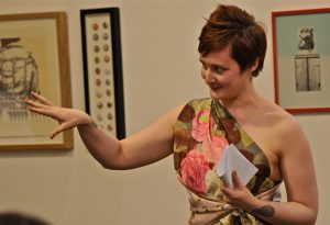 Kirsty Logan performing new work commissioned for '21 Revolutions' at GWL, June 2012. Photograph copyright Jean Donaldson