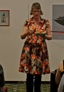 Laura Marney reading her new work at GWL