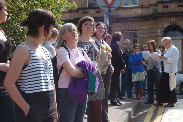 A group on the Hidden Gems of Garnethill walk