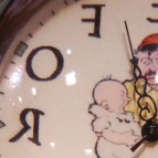 Anti-Suffragette clock c. early 20th century (detail)