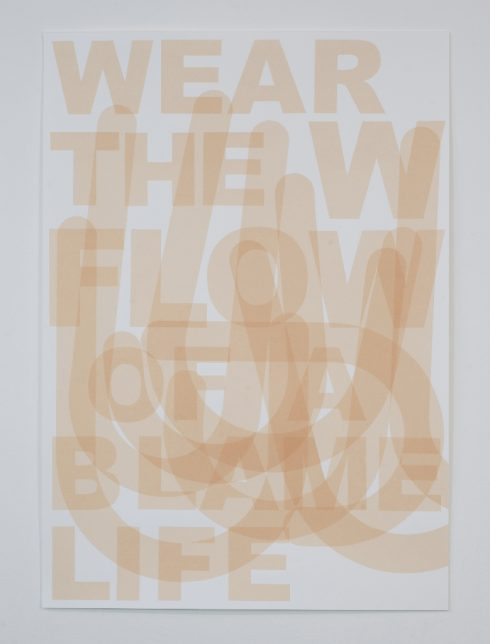 Claire Barclay, Untitled, 2012 (diptych, Wear the-) (1)