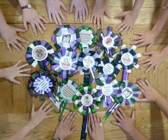 Suffragette Rosette Making Session