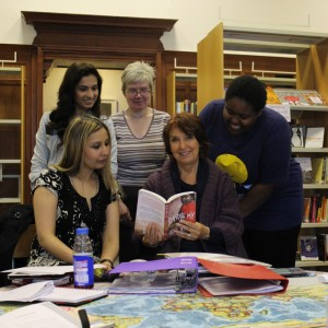 Some of the women in our Read Aloud Commonwealth Women's Writing group.