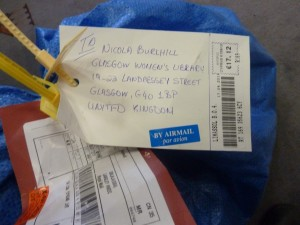 The first parcel to arrive. From Cyprus!