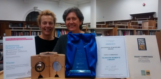GWL's Senior Managers, Adele Patrick and Sue John with the Awards scooped by GWL during the past year