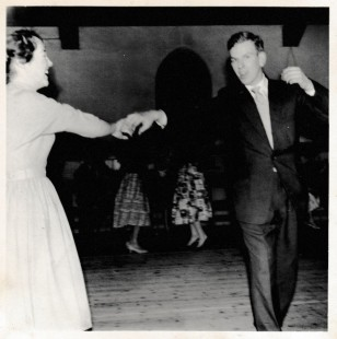 Betty and husband at the dancing