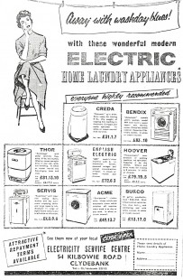 Electric service advert, Clydebank Press, 1959