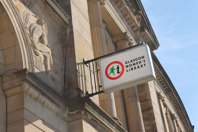 Glasgow Women's Library Sign in the Sun