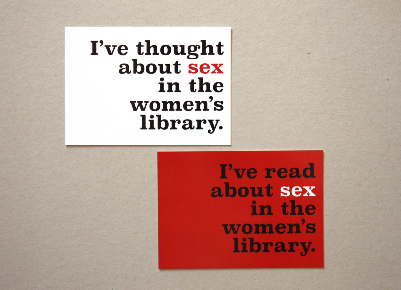 Sex in the Women's Library postcards