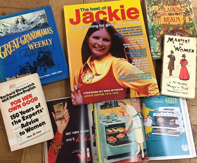 Photo of Jackie magazine from archives