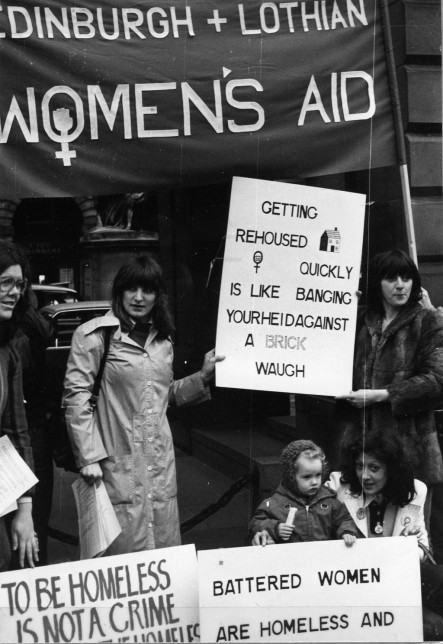 Photo of women at a demonstration for SWA.