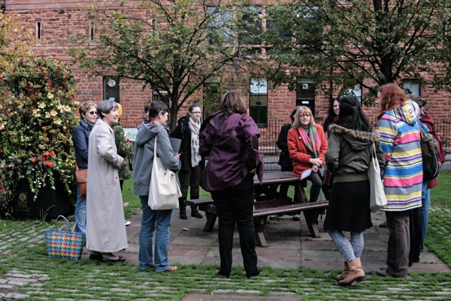 Photograph of women on Garenthill Women's Heritage Walk
