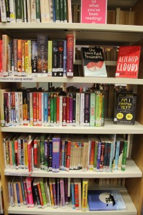 Book shelves. Fiction for girls and young adult books already available at GWL.