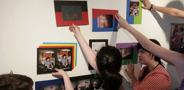 Photo of Young Critics Installing Exhibition