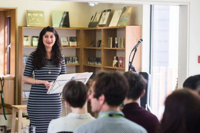 Photo: Nadine Jassat, writer, poet and creative practitioner based in Edinburgh