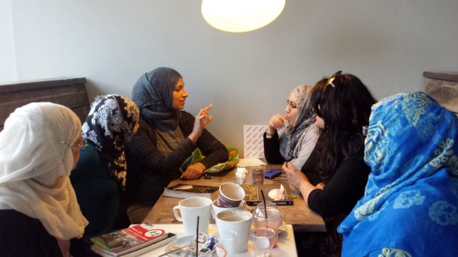 Reading Group for Muslim Women meeting.