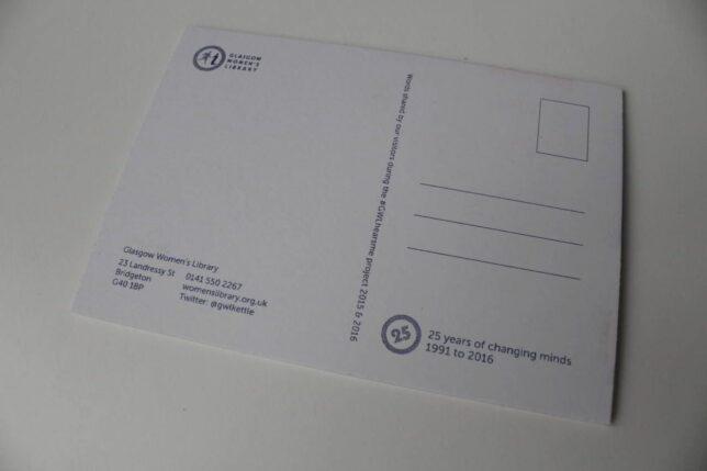 #GWLHearsMe postcards - reverse