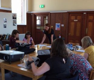 Speaking Out filming workshop at Glasgow Women's Library with filmmaker Helena Öhman.