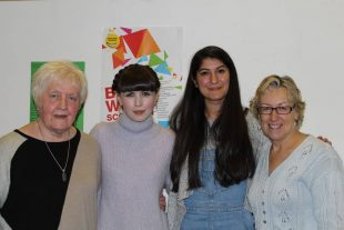 Our Bold Types Judges and winner Kirsten (Left to Right): Ethyl Smith, winner Kirsten McQuarrie, Nadine Aisha and Moira McPartlin