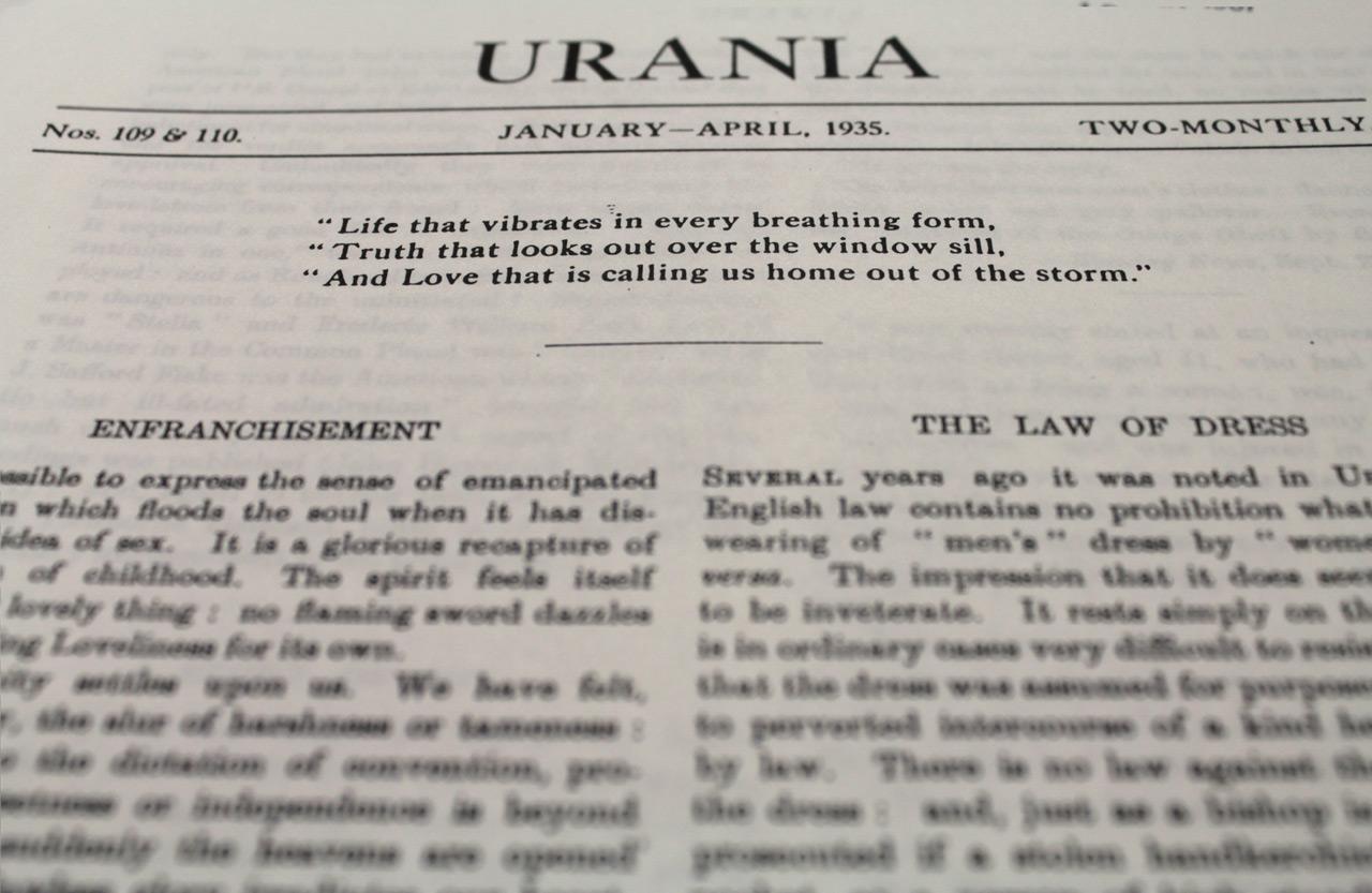 Urania, Issues 109 & 110, January-April, 1935