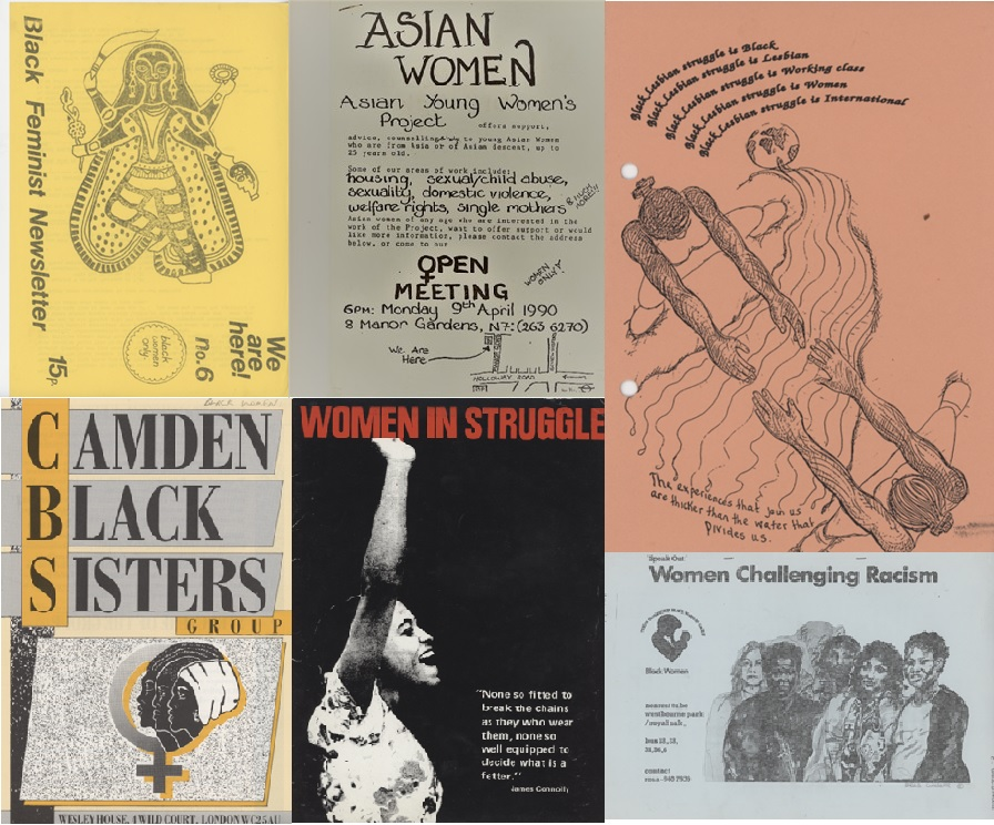 Newsletters, posters and flyers from the Camden Lesbian Centre and Black Lesbian Group Collection