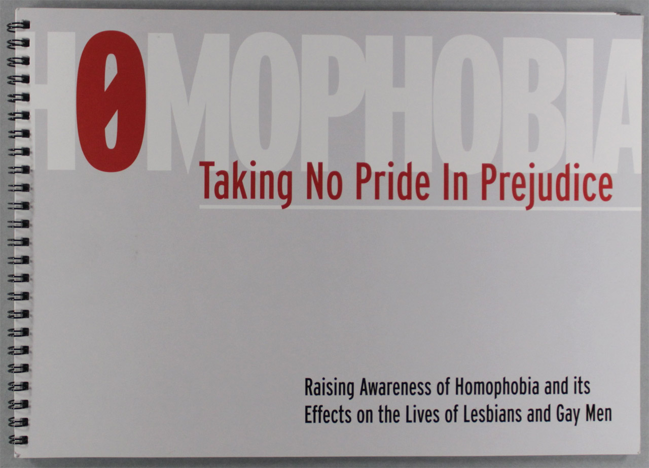 Homophobia: Taking No Pride in Prejudice handbook, produced by Glasgow Women's Library on behalf of Glasgow City Council, 2005