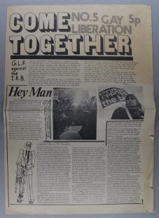 Come Together, Number 5, 1971, Gay Liberation Front media group