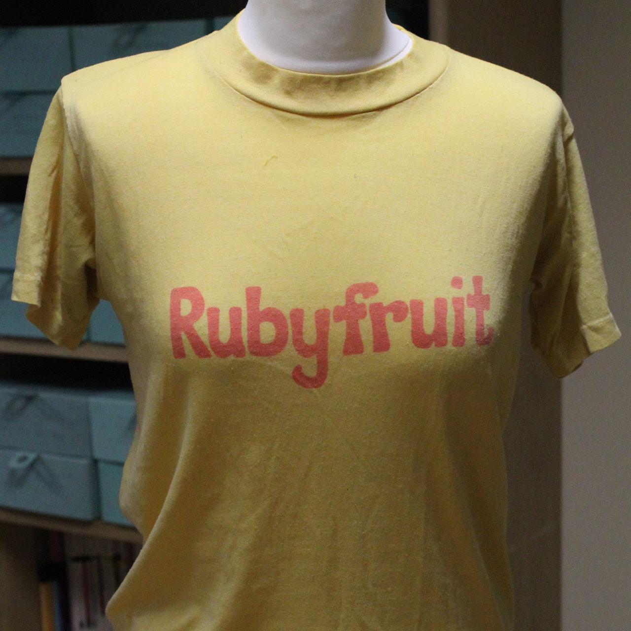 Rubyfruit T-shirt, unknown designer, c. 1980