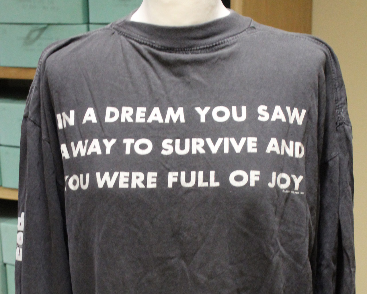 T-shirt for the Red Hot Organization, Jenny Holzer, 1990