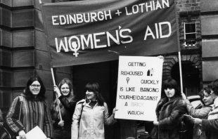 Scottish Womens Aid protest