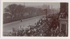 Gude Cause: Women's Suffrage Movement Procession along Princes Street in Edinburgh in 1909