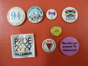 Badges from the Lesbian Archive collection