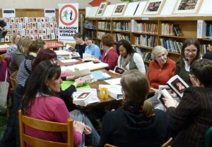 Group of learners at a library event.