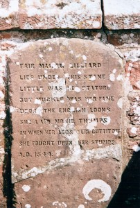 Lilias of Ancrum memorial stone