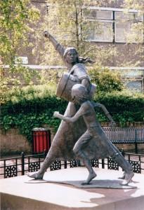 J Crookstone statue