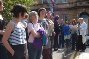 A group on the Hidden Gems of Garnethill walk