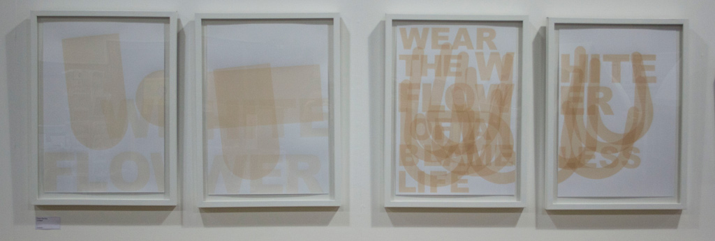 Clare Barclay, Untitled, 2012 (both diptychs)