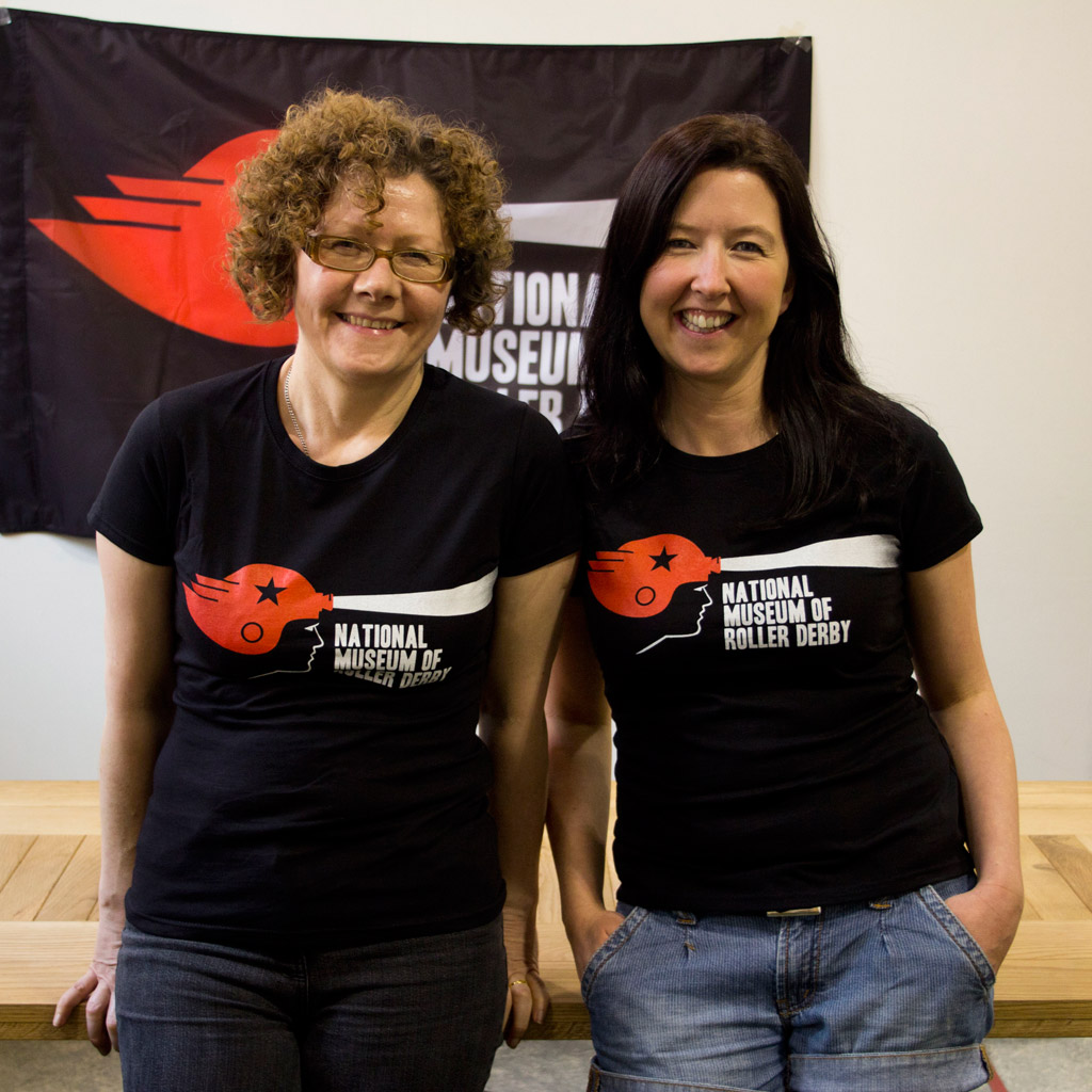 Morag and Wendy wearing NMRD T-shirts
