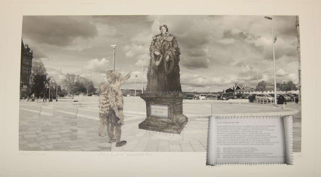 Sharon Thomas, Mary Barbour Monument, 2012