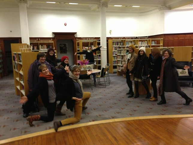 GWL Staff and Volunteers celebrate in the new lending library space at 23 Landressy Street