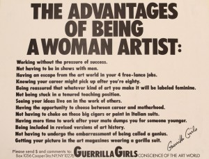 The Advantages of Being a Woman Artist. Poster from the Glasgow Women's Library Archives.