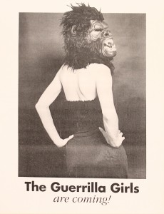 The Guerrilla Girls are Coming! Poster from Glasgow Women's Library Archives.