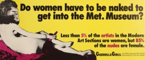 Do Women Have to be Naked to get into the Met. Museum? Poster from Glasgow Women's Library Archives.