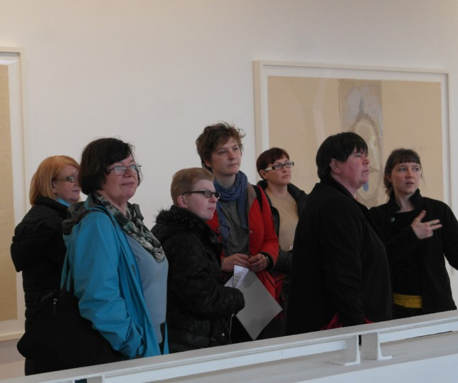 "The Seeing Things group at Louise Bourgeois ""I Give Everything Away"", February 2014"