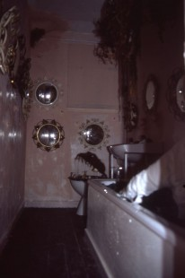 Castlemilk Womanhouse participants, Bathroom in Haunted House installation, 1990. Image by Rachael Harris, copyright Glasgow Women's Library.