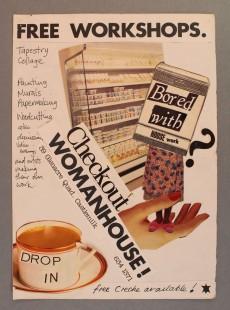Castlemilk Womanhouse workshop poster, Julie Roberts, 1990. Glasgow Women's Library collection. © Glasgow Women's Library