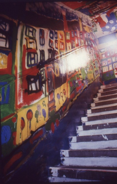 Catrin Williams, Mural, Castlemilk Womanhouse, 1990. Image courtesy of Claire Barclay. © Claire Barclay.